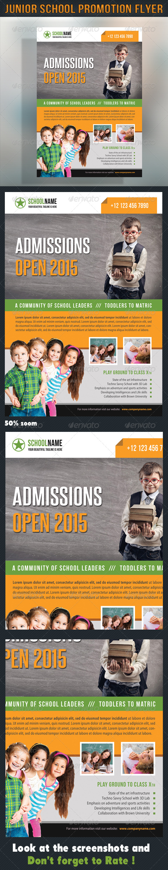 GraphicRiver Junior School Promotion Flyer 10 8644283