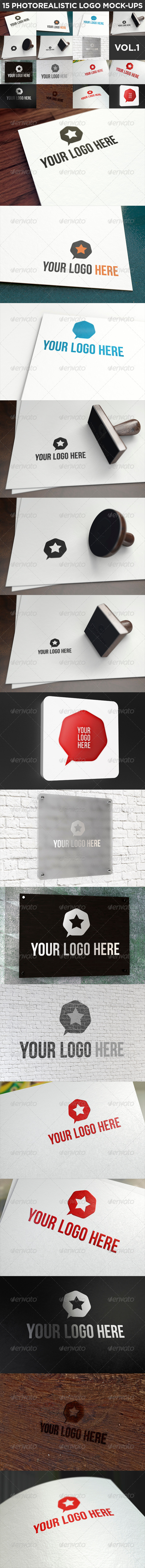 GraphicRiver 15 Realistic Logo Mock-Ups Vol.1 8655035