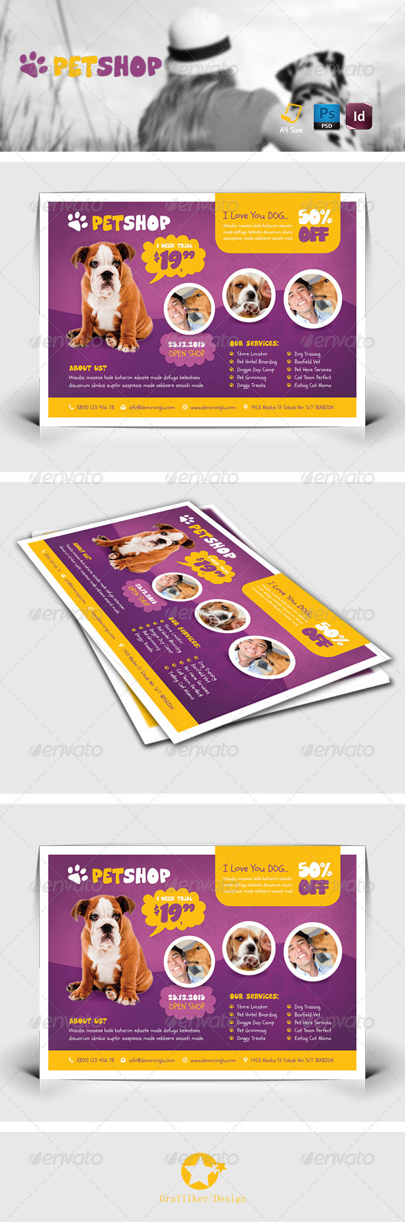 GraphicRiver Pet Shop Flyer Templates 8655139