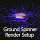 Ground Spinner Render Setup - 3DOcean Item for Sale