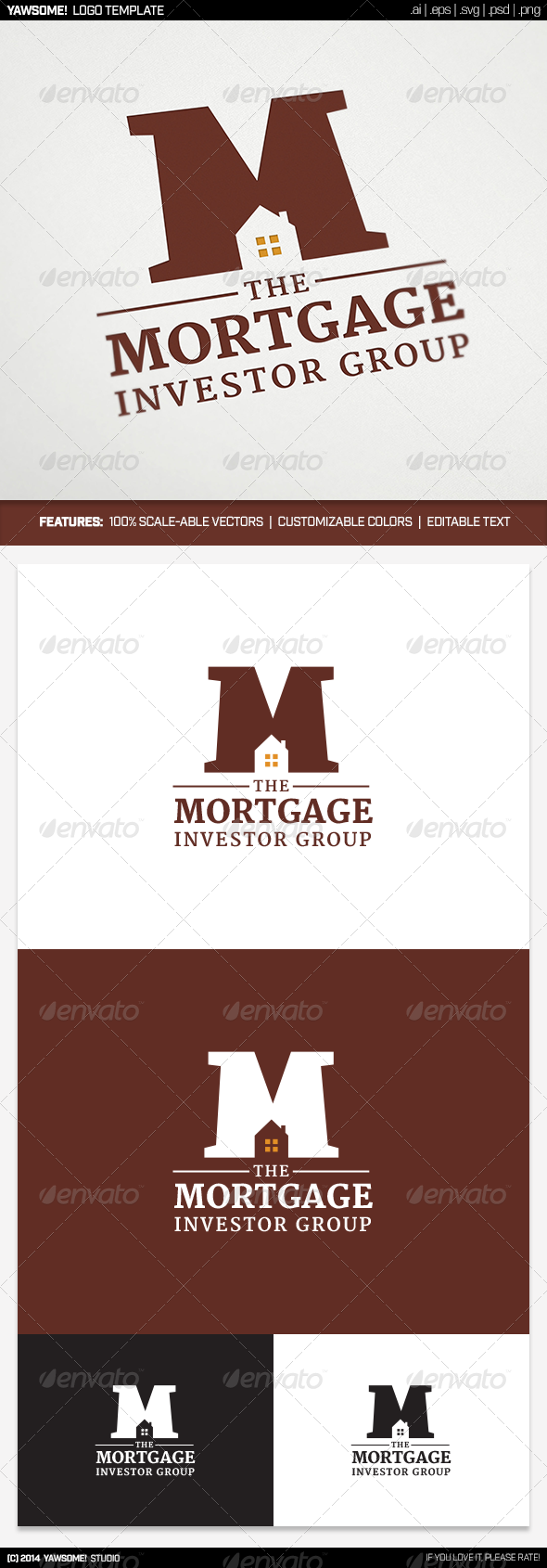 GraphicRiver Mortgage Investor Group Logo 8655265