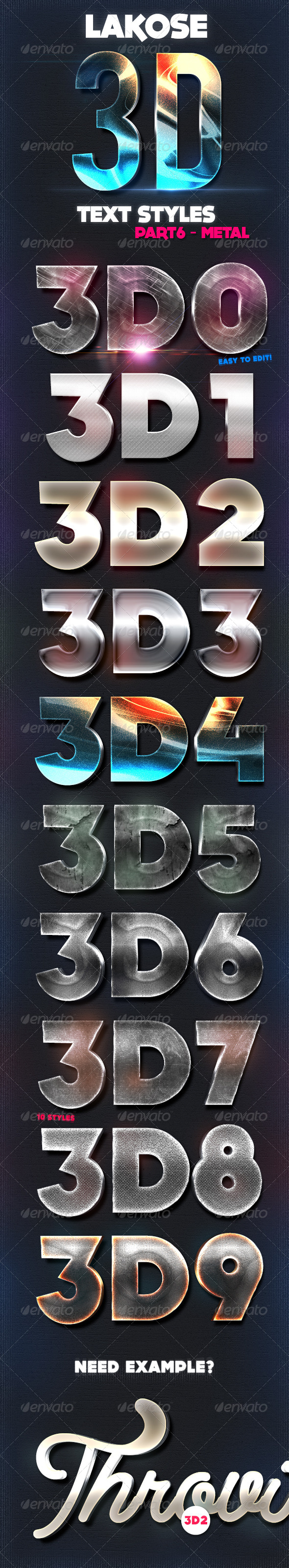 GraphicRiver Lakose 3D Text Styles Part 6 8655334