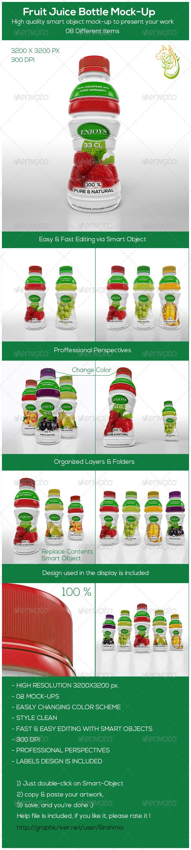GraphicRiver Fruit Juice Bottle Mock-Up 8656310
