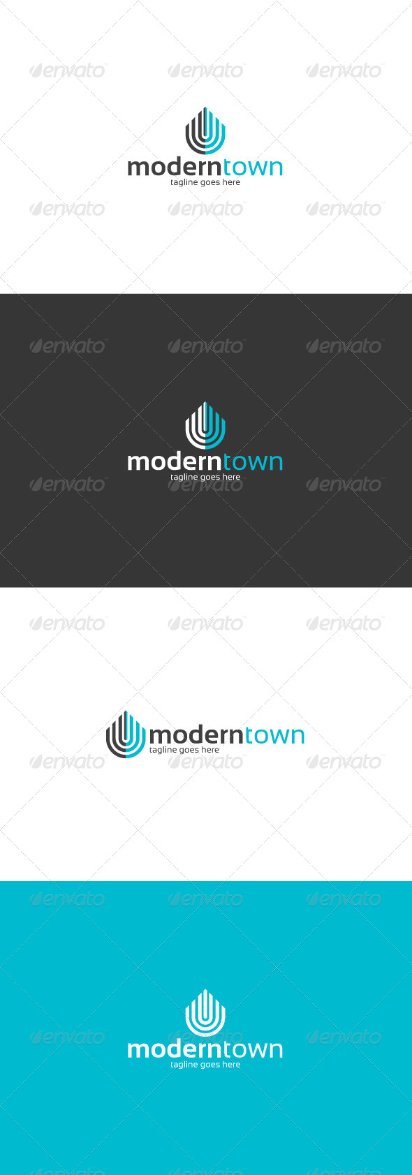 GraphicRiver Modern Town Logo 8644380