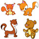 Fox, Bear, Weasel and Squirrel - GraphicRiver Item for Sale