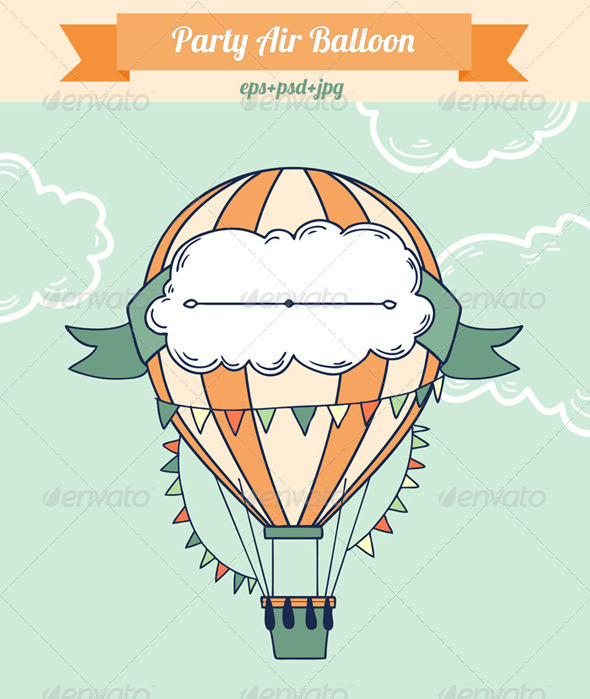 GraphicRiver Party Air Balloon 8656491