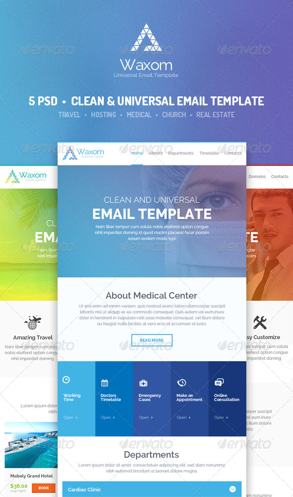 GraphicRiver Waxom Clean and Universal Email Template 8656617