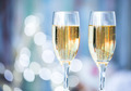 Two champagne glass on christmas bokeh background - PhotoDune Item for Sale