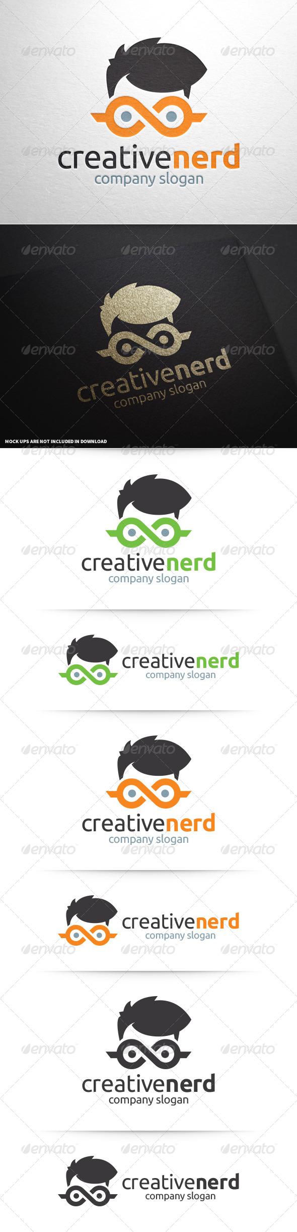 GraphicRiver Creative Nerd Logo Template 8656883