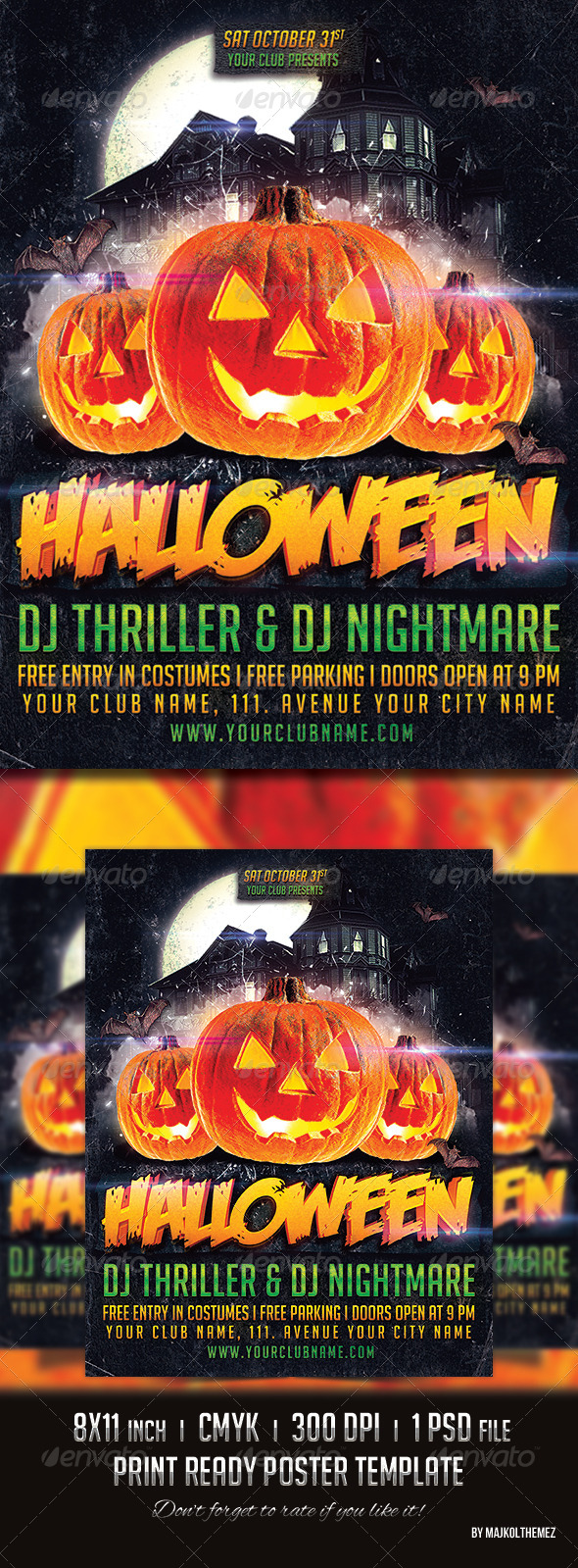 GraphicRiver Halloween Party Poster 2014 8657043