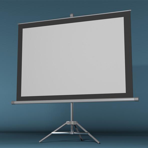 Projector Screen - 3DOcean Item for Sale