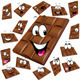 Milk Chocolate Cartoon with Many Expression  - GraphicRiver Item for Sale
