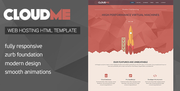 ThemeForest Cloud Me Web Hosting Responsive HTML Template 8657234