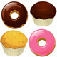 Donuts and Muffins - GraphicRiver Item for Sale
