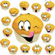 Muffin Cartoon with Many Expressions - GraphicRiver Item for Sale