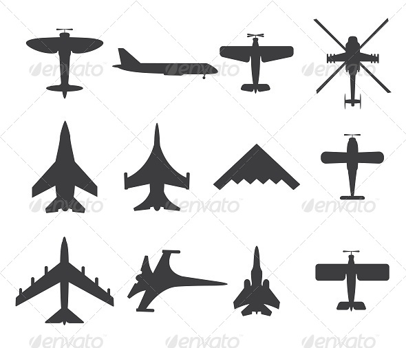 GraphicRiver Planes Icons 8657294