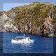 White Boat In Blue Sea - VideoHive Item for Sale