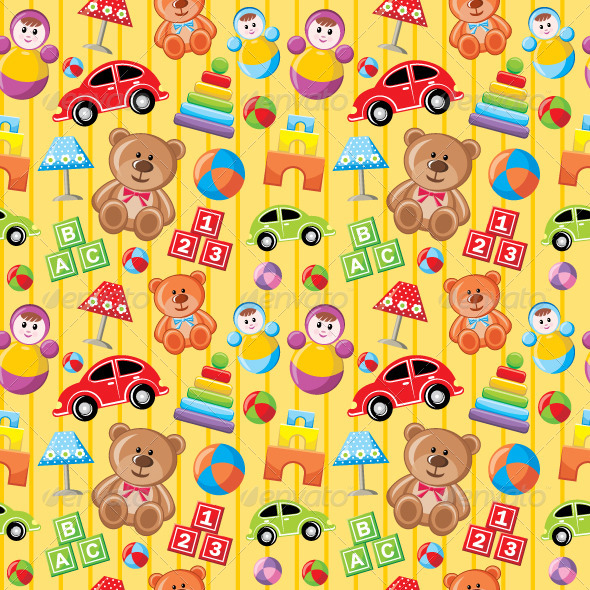 GraphicRiver Seamless Toys Pattern 8657736