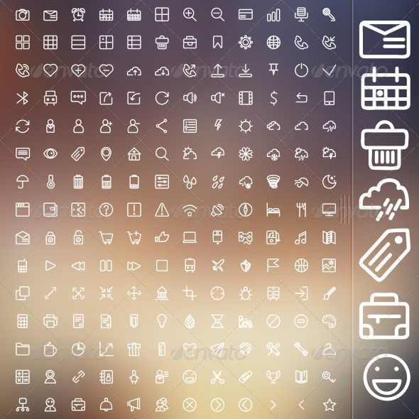 GraphicRiver Set Of Icons For Web And UI 8657795