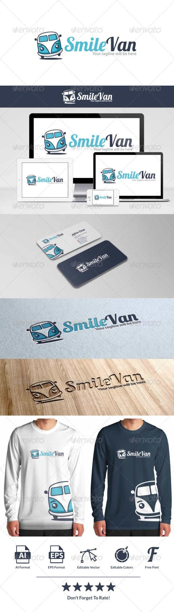 GraphicRiver Smile Van Logo 8646458