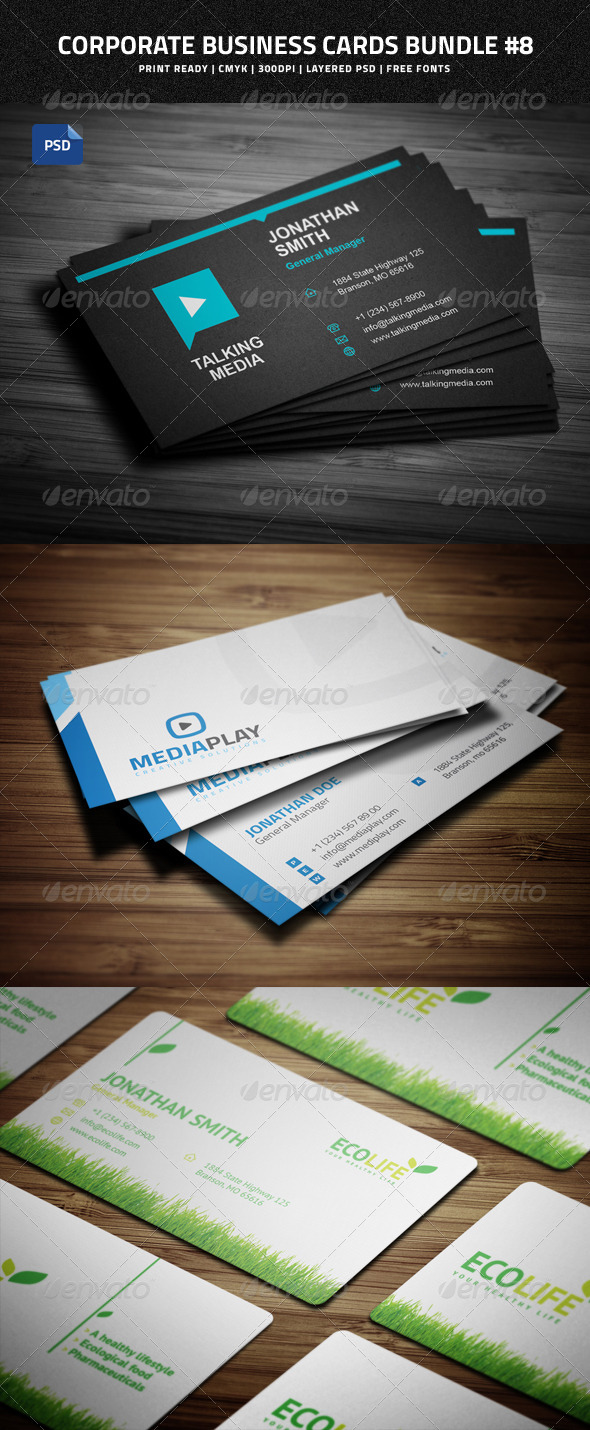 GraphicRiver Creative Business Cards Bundle #8 8658032