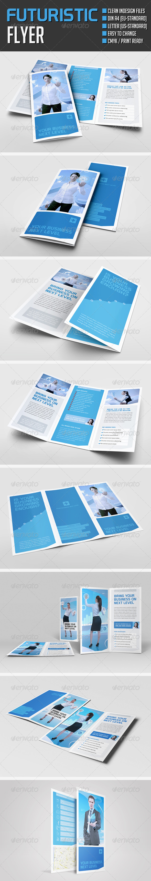 Futuristic Brochures - Corporate Flyers
