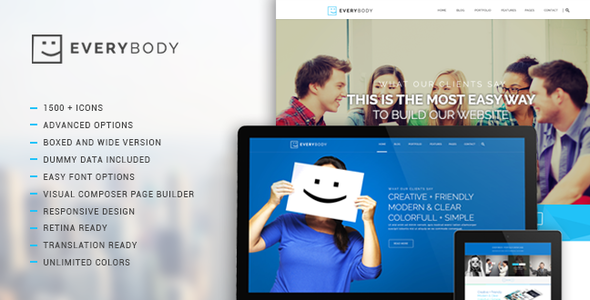 ThemeForest Everybody Creative Multi-Purpose Wordpress Theme 8540151