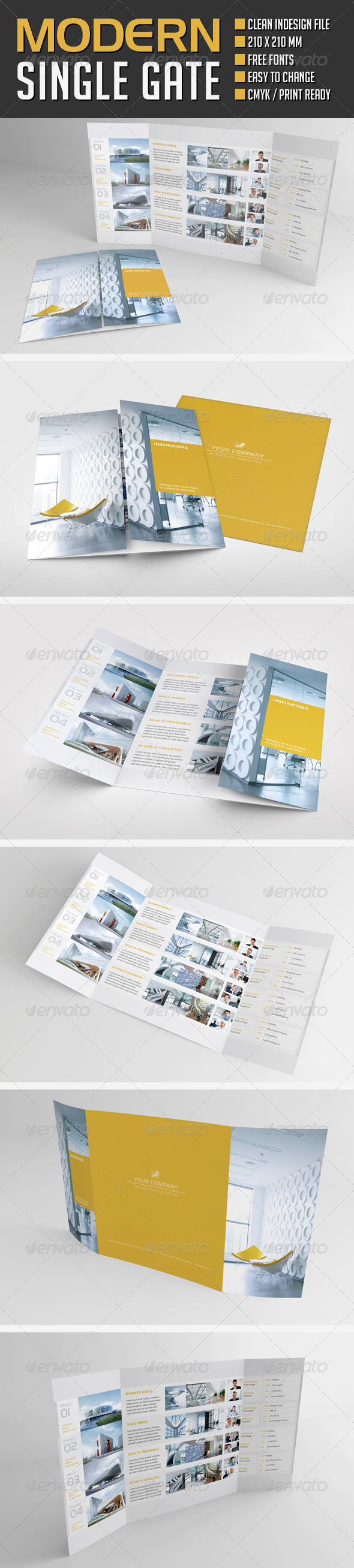 GraphicRiver Modern Project Gate Fold Flyer 8658891