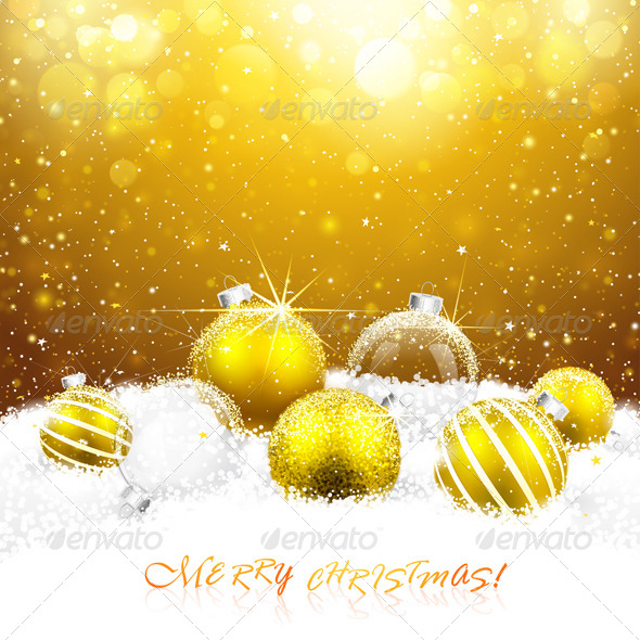 GraphicRiver Christmas Decorations in the Snow 8658894