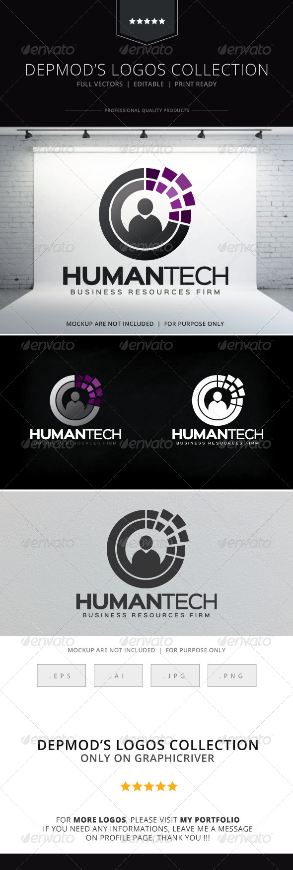 GraphicRiver Human Tech Logo 8659077