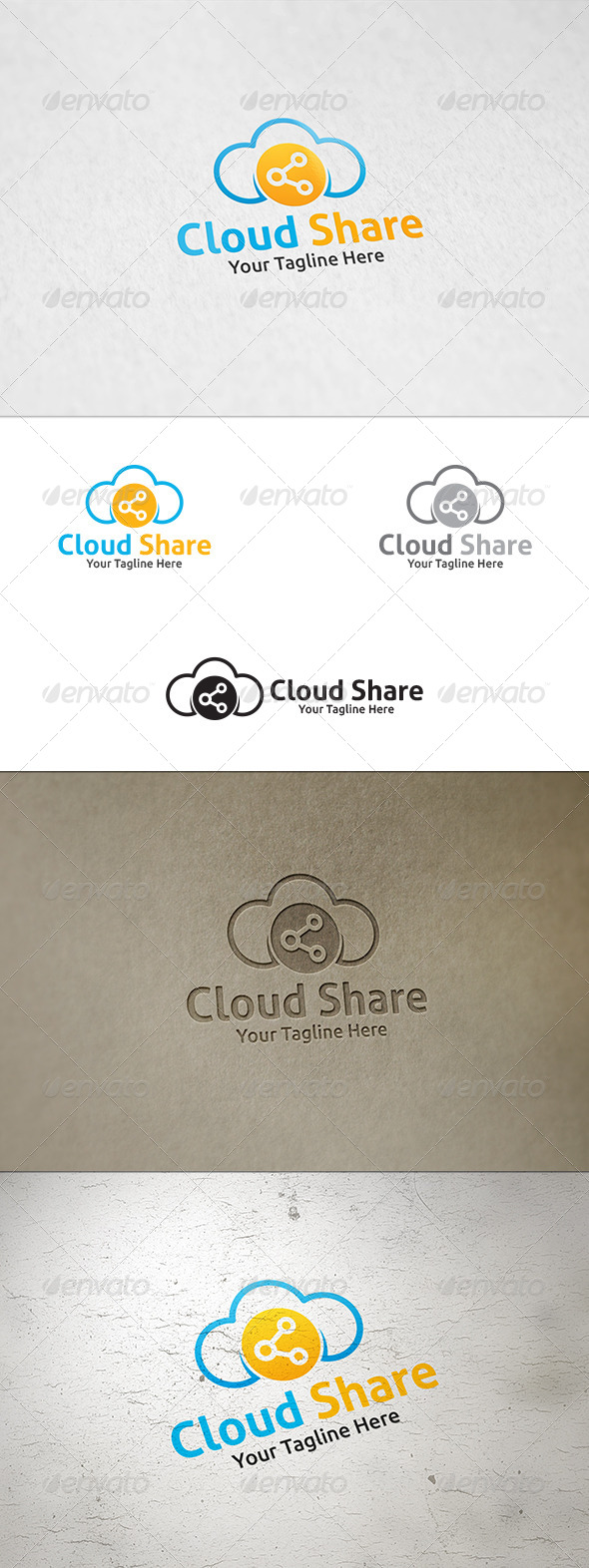 GraphicRiver Cloud Share Logo Template 8659083