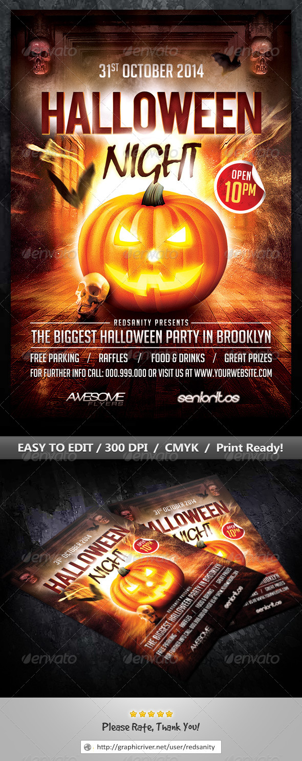 GraphicRiver Halloween Night Flyer 8659084