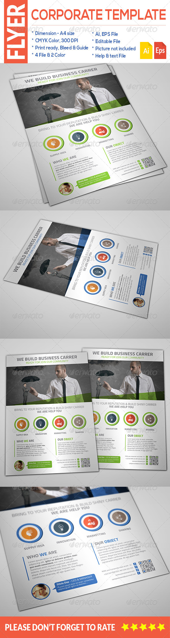 GraphicRiver Corporate Flyer 8659096