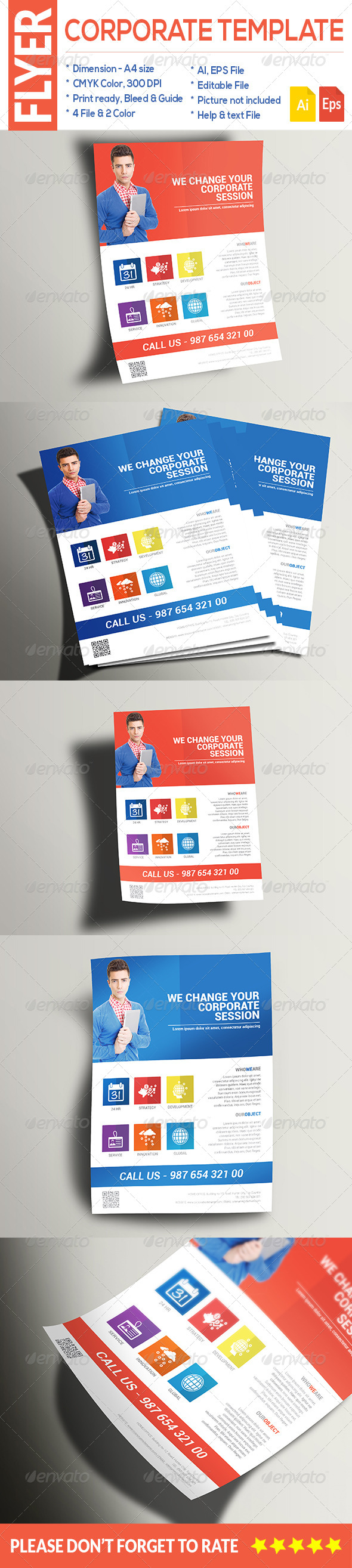 GraphicRiver Multipurpose Corporate Flyer 8659112