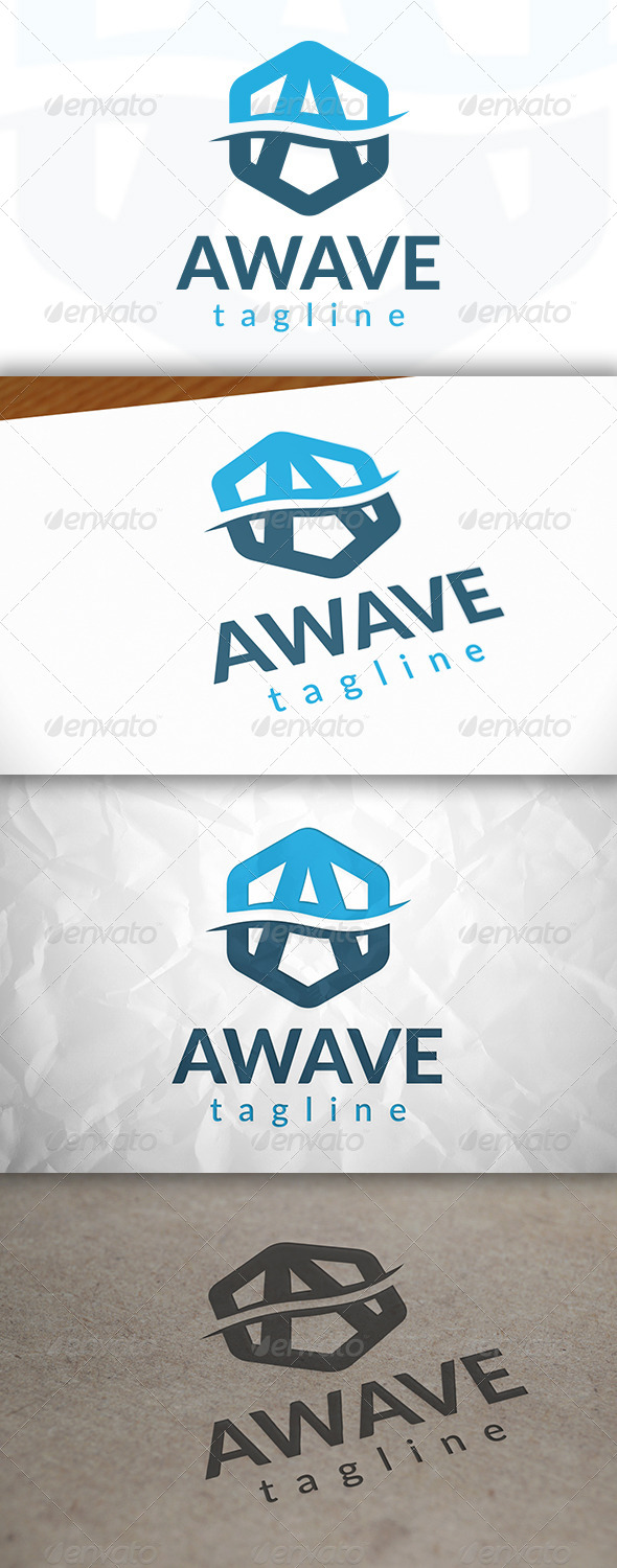 GraphicRiver Wave Letter A Logo 8659123