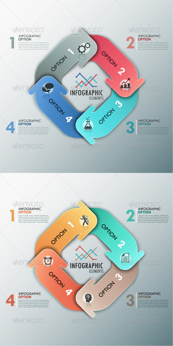 Modern Infographic Options Banner 2 Versions