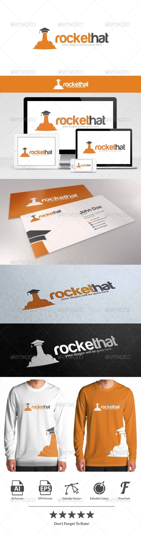 GraphicRiver Rocket Hat Logo 8659145