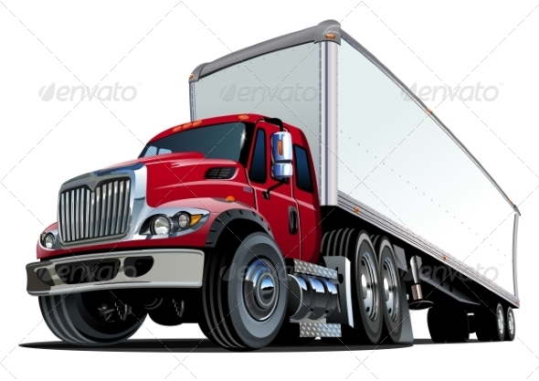 GraphicRiver Cartoon Semi Truck 8659146