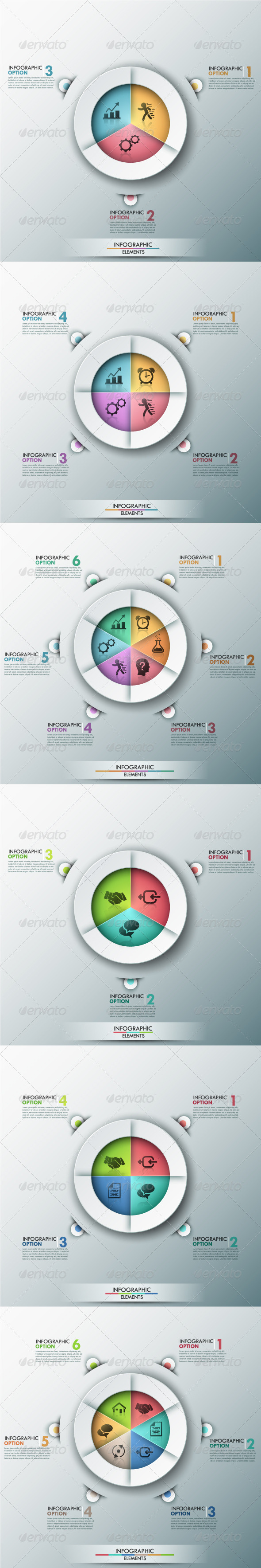 Modern Infographic Banner With Pie Chart 6 Items