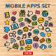 Mobile Apps Scrapbook Sticker Set  - GraphicRiver Item for Sale
