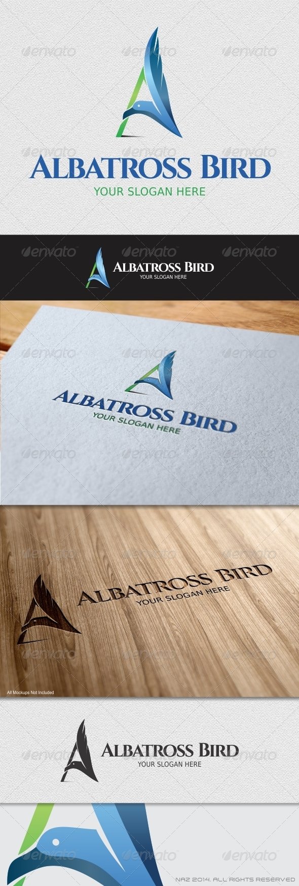 GraphicRiver Albatross Bird Logo 8646648