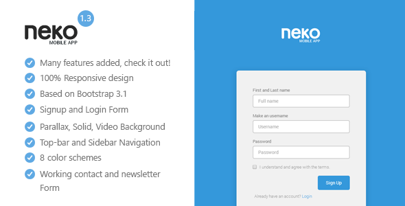 Neko - Responsive Bootstrap App Landing Page - Apps Technology