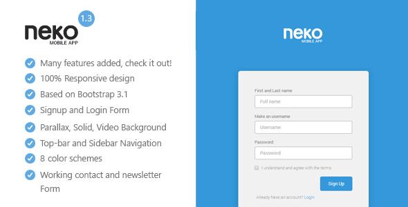 Neko - Responsive Bootstrap App Landing Page
