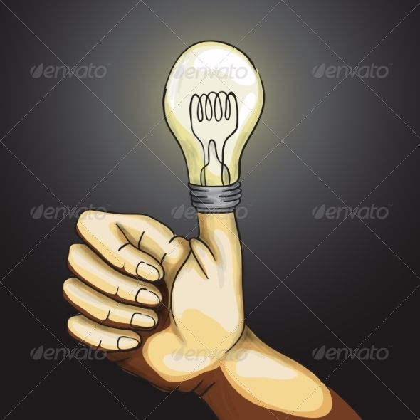 GraphicRiver Ok Hand Lamp Bulb 8659203