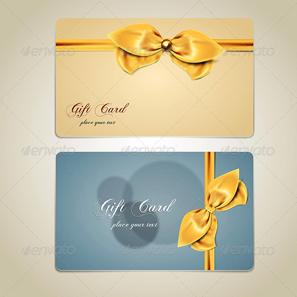 GraphicRiver Gift Cards with Bows and Ribbons 8659220
