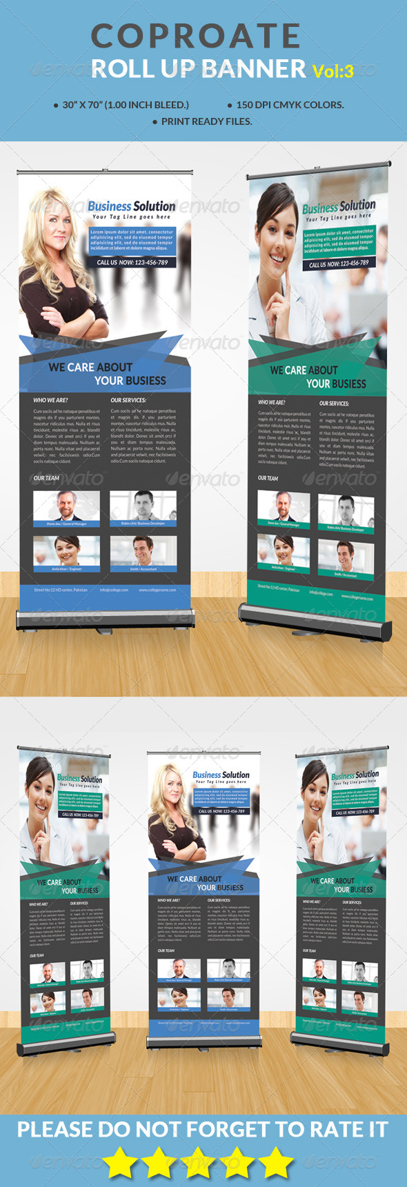 GraphicRiver Corporate Roll-up Banner Vol 3 8659238