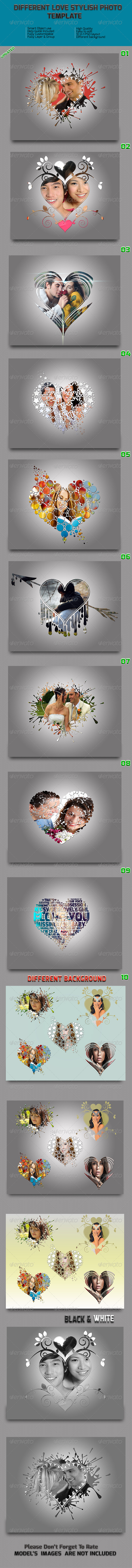 GraphicRiver Different Love Stylish Photo Frame Templates 8659246