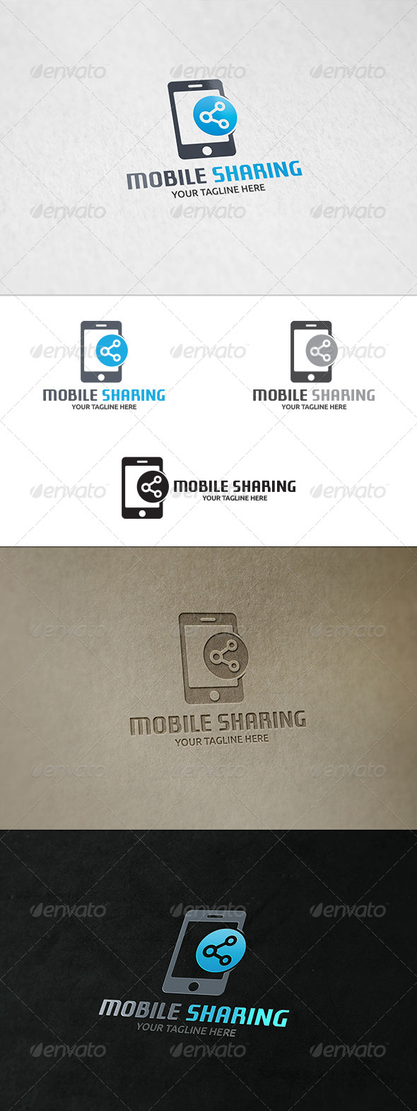 GraphicRiver Mobile Sharing Logo Template 8659286