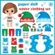 Paper Doll with Winter Clothes Set - GraphicRiver Item for Sale