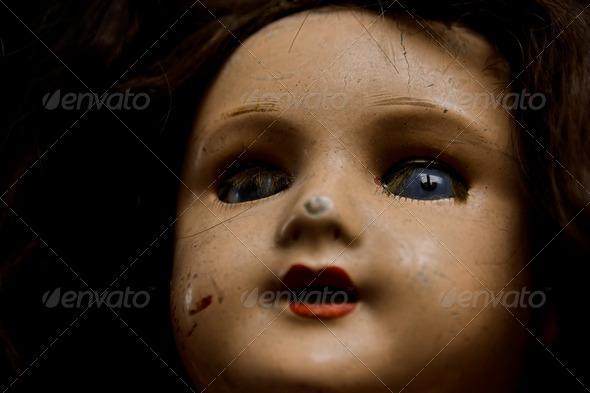 Royalty Free Stock Photography : Damaged Vintage Doll Photodune 880557